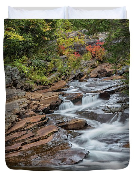 Duvet Cover featuring the photograph Lower Ammonoosuc Falls by Bill Wakeley