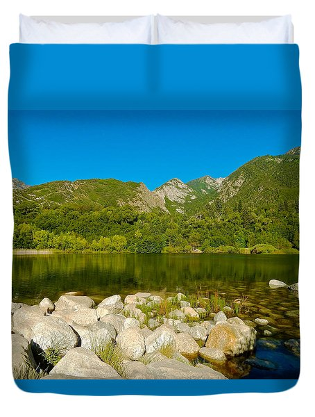 Lower Bells Canyon Reservoir Duvet Cover
