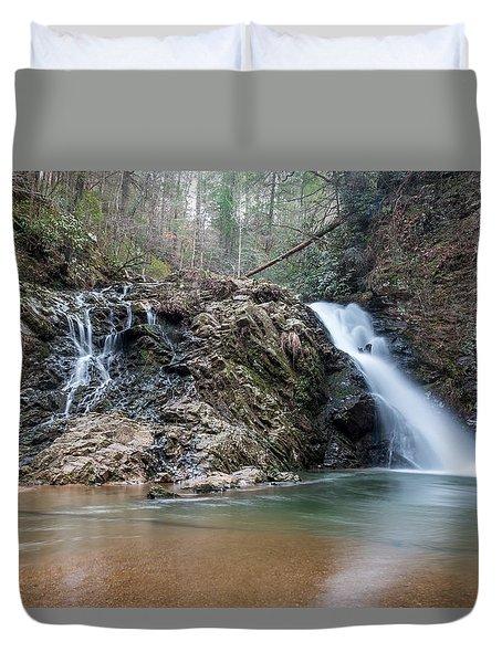 Lower Brasstown Falls Duvet Cover