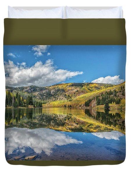 Lower Cataract Lake Aspen Duvet Cover