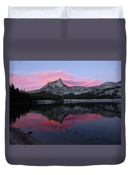 Lower Cathedral Lake Sunset Duvet Cover