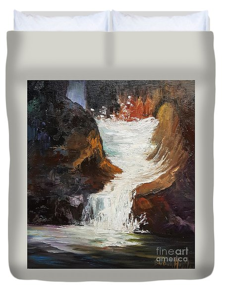Lower Chasm Waterfall Duvet Cover