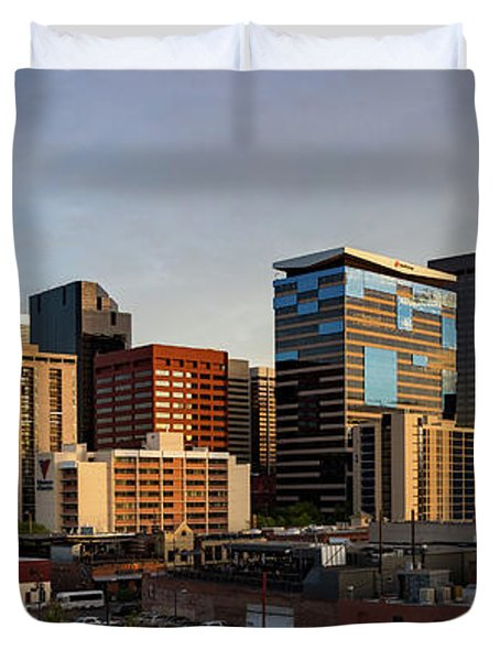Lower Downtown Panorama Duvet Cover