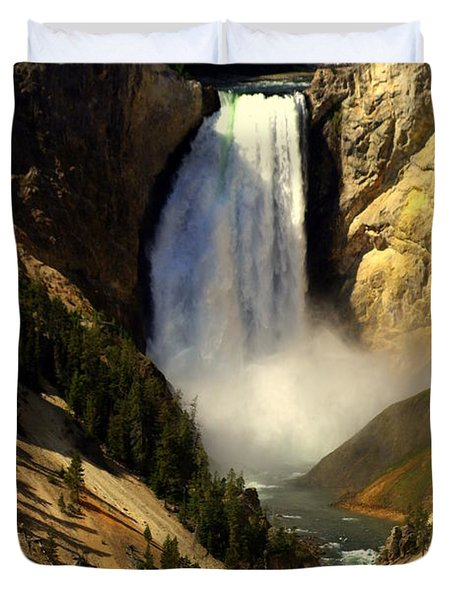 Lower Falls 2 Duvet Cover by Marty Koch