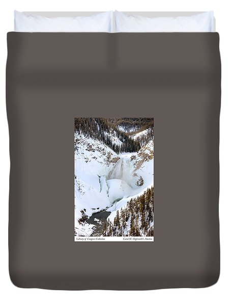 Lower Falls In The Grand Canyon Of The Yellowstone River Duvet Cover by Carol M Highsmith