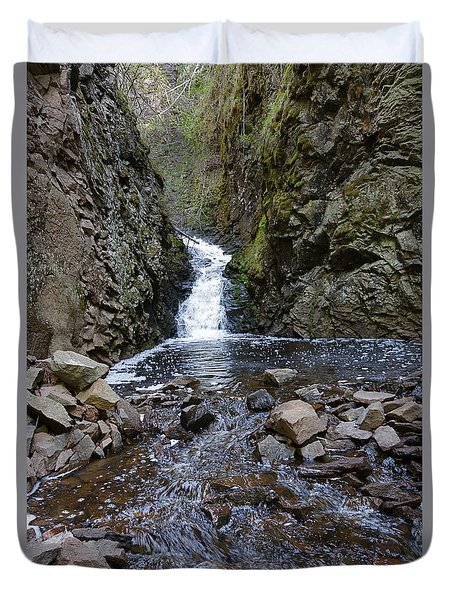 Duvet Cover featuring the photograph Lower Falls On Kugler's Creek #2 by Sandra Updyke