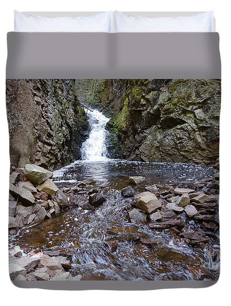 Duvet Cover featuring the photograph Lower Falls On Kugler's Creek by Sandra Updyke