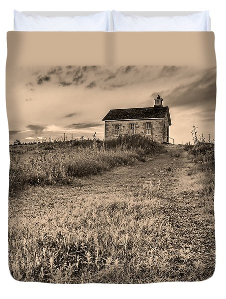 Lower Fox Creek School Duvet Cover by Don Spenner