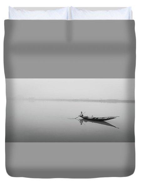 Lower Ganges - Misty Morinings Duvet Cover