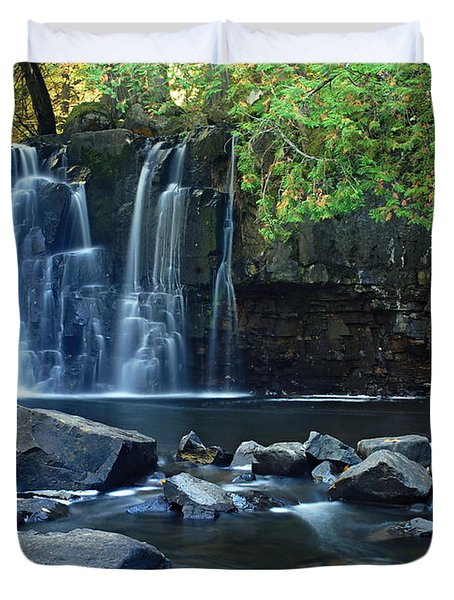 Lower Johnson Falls Duvet Cover