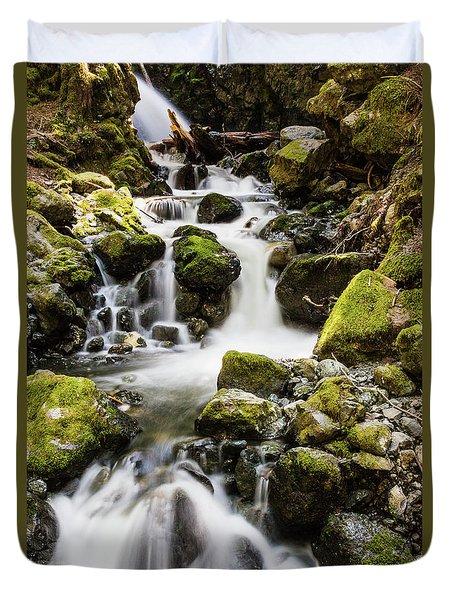 Lower Lupin Falls   Duvet Cover