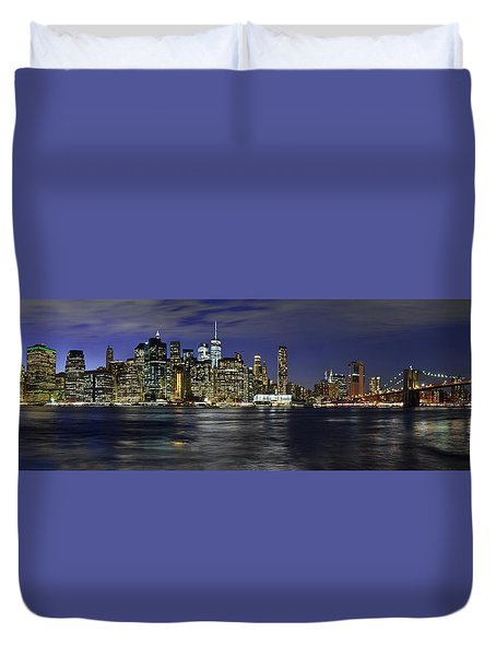 Lower Manhattan From Brooklyn Heights At Dusk - New York City Duvet Cover