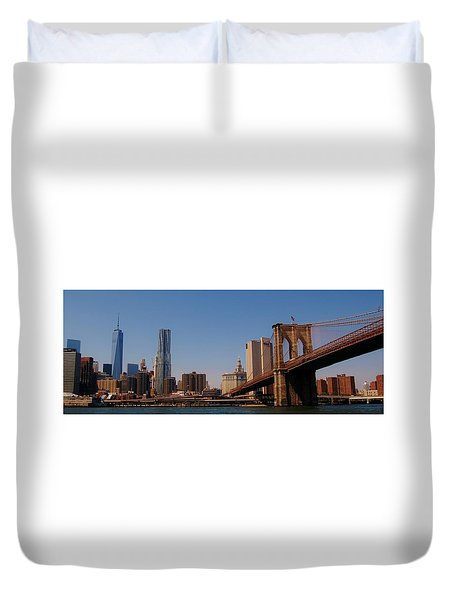 Lower Manhattan Nyc Duvet Cover