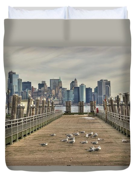 Lower Manhattan Duvet Cover by Timothy Lowry