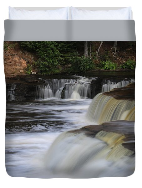 Lower Tahquamenon Summer Duvet Cover by Rachel Cohen