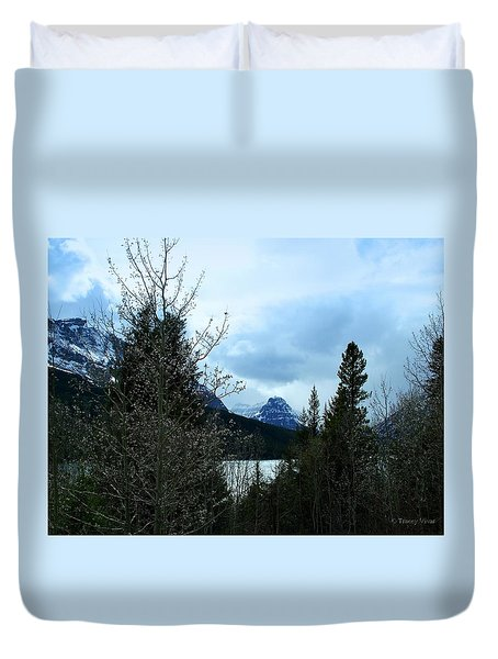 Lower Two Med Lake Through The Trees Duvet Cover
