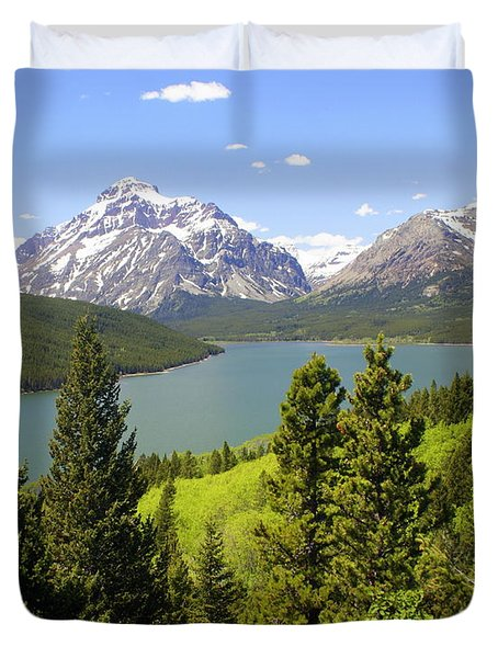 Lower Two Medicine Lake Duvet Cover