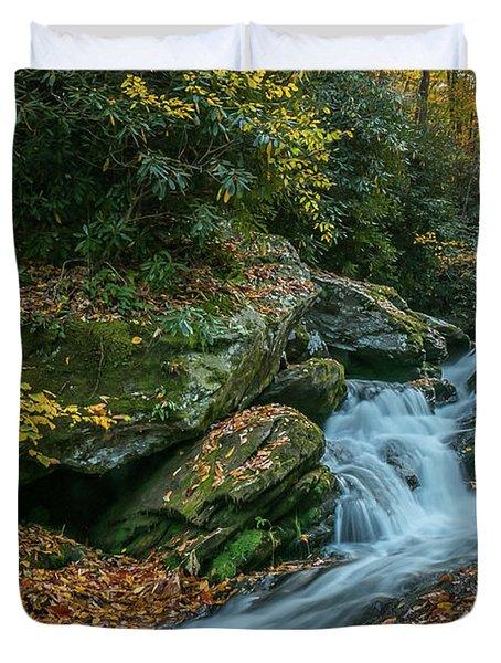 Lower Upper Creek Falls Duvet Cover