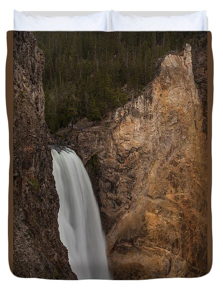 Lower Yellowstone Waterall Duvet Cover
