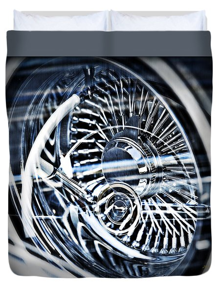 Lowrider Wheel Illusions 1 Duvet Cover