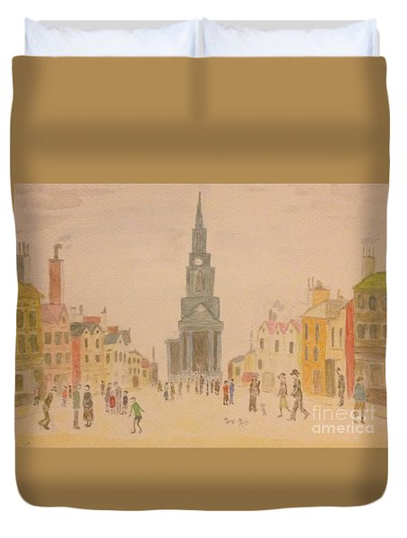 Lowry And Shadow Of Japan Duvet Cover by Sawako Utsumi