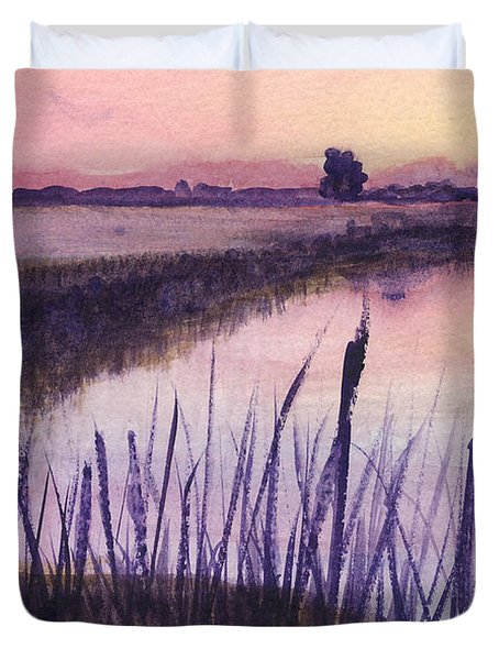 Loxahatchee Sunset Duvet Cover