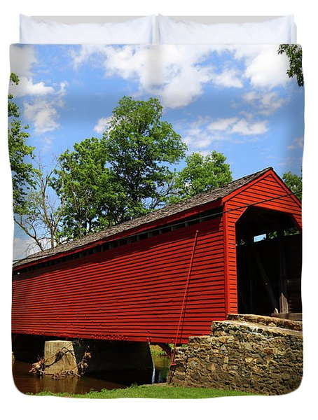 Loys Station Covered Bridge Frederick County Maryland Duvet Cover