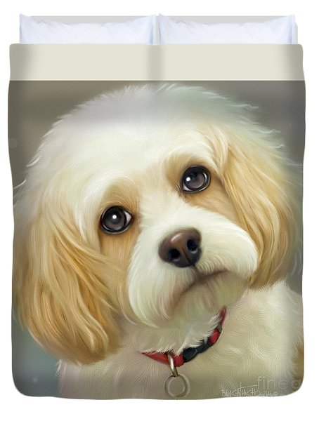 Duvet Cover featuring the painting Lucas Cavachon by Catia Lee