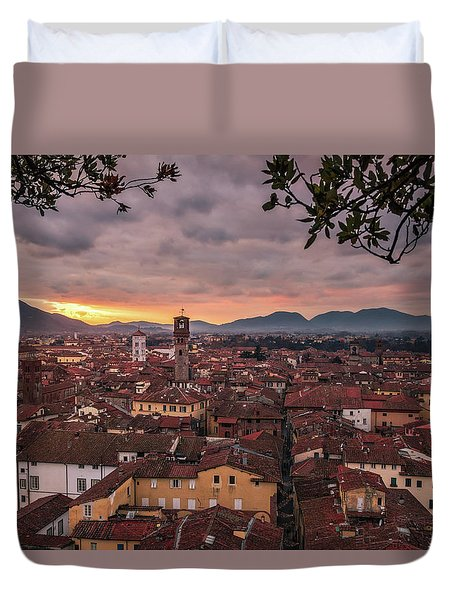 Lucca In Tuscany Duvet Cover