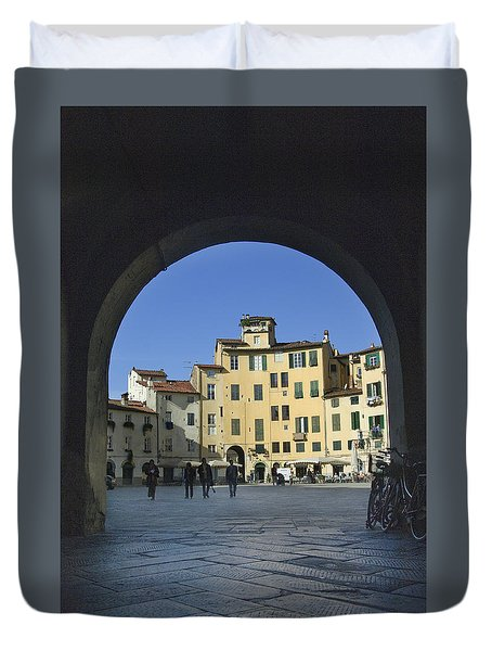 Lucca Piazza Duvet Cover