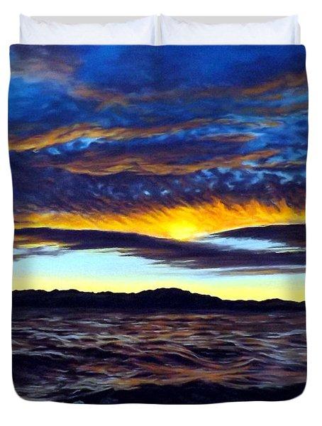 Lucerne Sunset Duvet Cover