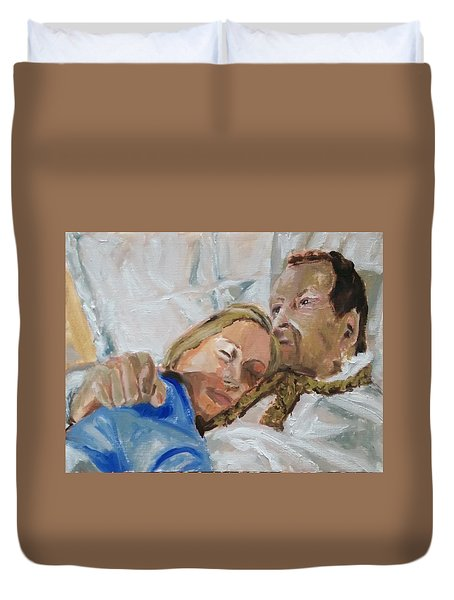 Lucian And Kate I Duvet Cover by Bachmors Artist