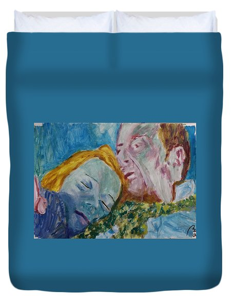 Lucian And Kate Iv Duvet Cover by Bachmors Artist