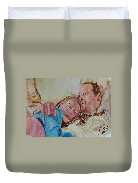 Lucien And Kate II Duvet Cover by Bachmors Artist