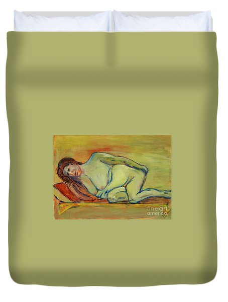 Lucien Who? Duvet Cover