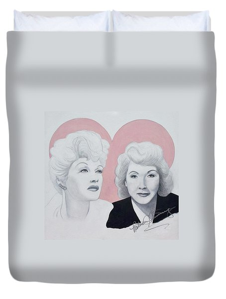 Lucille And Vivian Duvet Cover