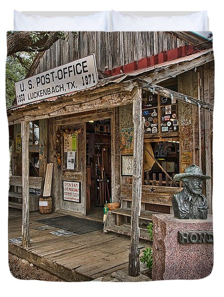 Luckenbach Post Office And General Store_2 Duvet Cover