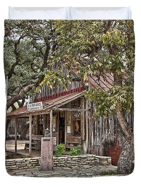 Luckenbach Post Office And General Store_3 Duvet Cover