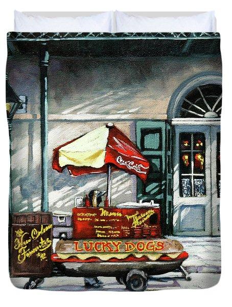 Lucky Dogs Duvet Cover
