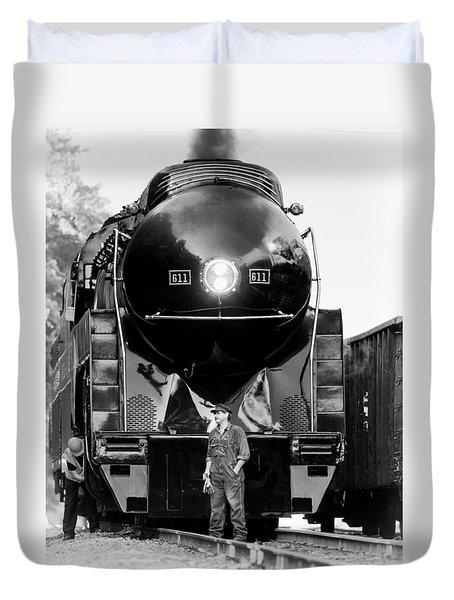 Coal Steel And Steam Duvet Cover