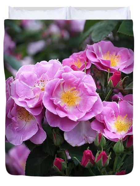 Lucky Floribunda Roses Duvet Cover