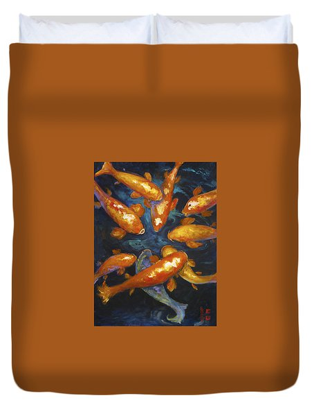 Lucky Koi Duvet Cover