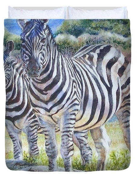 Lucky Stripes Duvet Cover