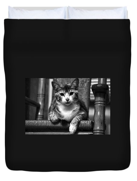 Lucy 2 Bw Duvet Cover