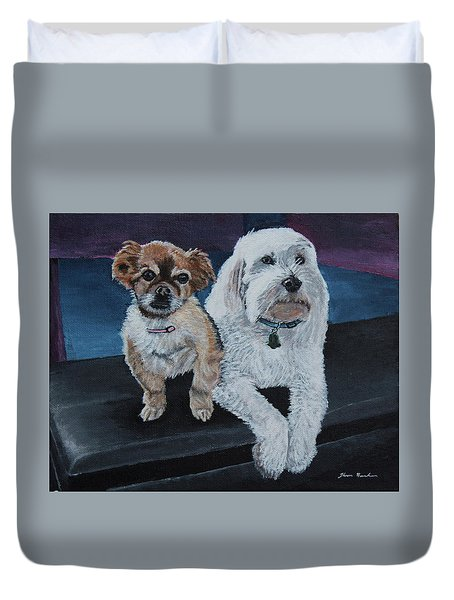Lucy And Colby Duvet Cover