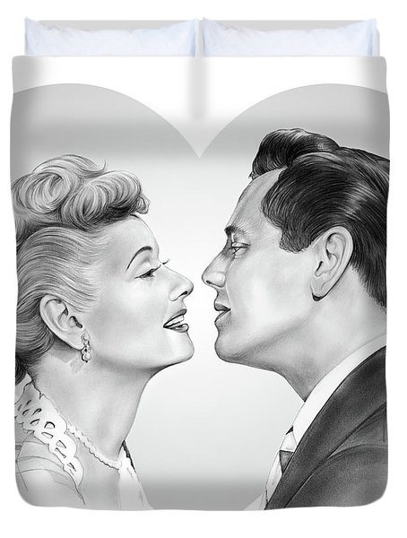 Lucy And Desi Duvet Cover