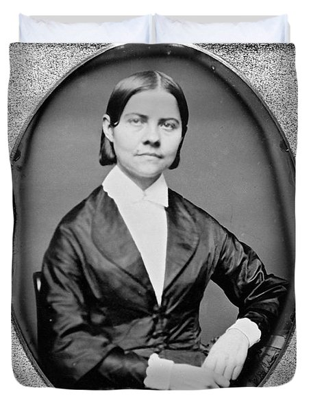Lucy Stone, American Abolitionist Duvet Cover by Photo Researchers