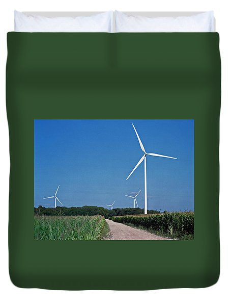 Ludington Wind Farm Duvet Cover