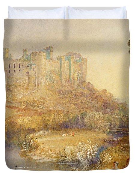 Ludlow Castle  Duvet Cover by Joseph Mallord William Turner