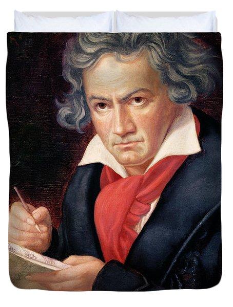 Ludwig Van Beethoven Composing His Missa Solemnis Duvet Cover